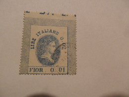 Italia REGNO    V.E. II  FISCALI  LIRE 0,01 USATO - Fiscaux