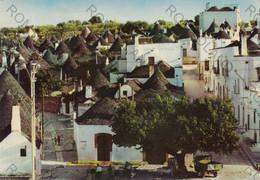 CARTOLINA   ALBEROBELLO, PUGLIA, TRULLI ZONA MONUMENTALE, COSTUMI,ANIMATA,  VIAGGIATA 1969 - Bari