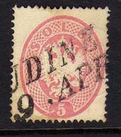 Italie - Lombardo-Venitie (1863) - 5 S. Aigle  -  Oblitere - Lombardo-Vénétie