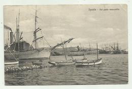 SPEZIA - NEL PORTO MERCANTILE 1909  VIAGGIATA FP - La Spezia