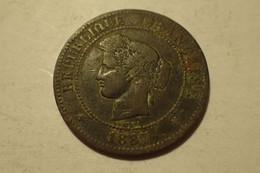 France - Monnaie 10 Centimes Cérès 1887 A - C. 5 Centimes