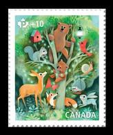 Canada 2020 Mih. 3825 Fauna. Animal Diversity. Bears. Squirrel. Hedgehog. Butterfly. Bird. Snail. Fox. Hare MNH ** - Ungebraucht