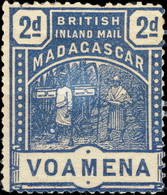 MADAGASCAR - BRITISH INLAND MAIL - SG57 - 2d Blue VOAMENA - Mint Hinged / Neuf* - Unused Stamps