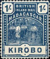 MADAGASCAR - BRITISH INLAND MAIL - SG60 - 1/- Slate-blue KIROBO - Mint Hinged / Neuf* - Unused Stamps