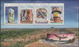 AUSTRALIA - USED 2020 $4.40 Water Tower Art, Souvenir Sheet - Gebraucht