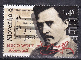 SLOVENIA 2020, MUSIC,HUGO WOLF,COMPOSER,FAMOUS PEOPLE,,,MNH - Slovenia
