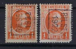 Houyoux Nr. 190 Voorafgestempeld Nr.  2923  A + B  BILSEN 1922 , Staat Zie Scan ! - Rollini 1920-29
