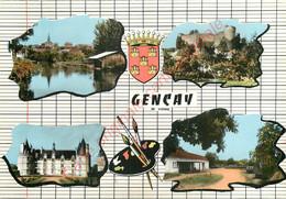 86.  GENCAY .  CP Multivues . - Gencay