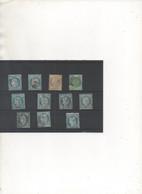 Lot  DIVERS: Plaquette  Timbres Oblitérés - 1871-1875 Ceres