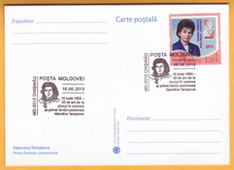 2013 Moldova Moldavie Moldau 50 Years Of Valentina Tereshkova. Special Cancellations.  Personal Stamp. - Europe