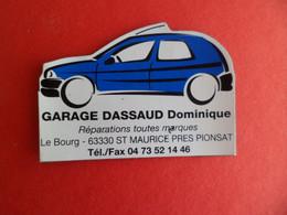 Magnet PUBLICITÉ Auto Voiture Garage DASSAUD  à ST MAURICE PRES PIONSAT  Puy-de-Dôme - Magnets