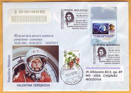 2013. Moldova Moldavie Moldau. 50 Years Of Valentina Tereshkova. Special Cancellations. Personal Stamps Spase - Russie & URSS