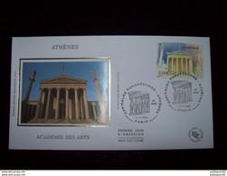 FRANCE 2004_Enveloppe 1er Jour_fdc_soie_Capitales Européennes Athènes, Académie Des Arts Oblit PJ Paris 11/11/04. - 2000-2009