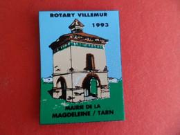 Magnet Publicité Pigeonnier ( Pigeon ) ROTARY à VILLEMUR Sur TARN ( Haute - Garonne ) Mairie La MAGDELEINE / Tarn - Magnets