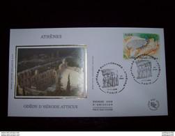 FRANCE 2004_Enveloppe 1er Jour_fdc_soie_Capitales Européennes Athènes, Odéon D'Hérode Atticus Oblit PJ Paris 11/11/04. - 2000-2009