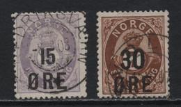 Norway (29) 1906 Skilling Values Overprinted. Used. - Ungebraucht