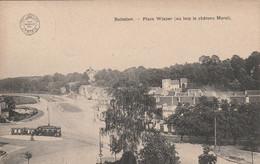 Boitsfort  ,( Bruxelles ),  Place Wiener,( Au Loin Le Chateau Morel ), Tram  Tramway - Watermael-Boitsfort - Watermaal-Bosvoorde