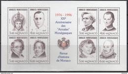 MONACO 1996 B.F. Y&T N° 72 ** - 20e ANNIVERSAIRE DES ANNALES MONEGASQUES - Blocks & Kleinbögen