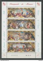 MONACO 2012 N° 2812/2815 ** Neuf MNH Superbe Art Peintures Opéra Fresques Salle Garnier Musique Danse Comédie - Bloques