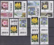 Deutschland 2017ff. Dauerserie Blumen, Marken Mit Barcodenebenfeld, Mi 3296, 3303, 3314, 3315 Gebraucht - Usados