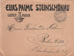 Tschechoslowakei Firmenbrief Elias Palme Steinschönau Luster Fabrik 1923 - Briefe U. Dokumente