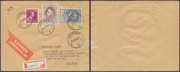 N°692 + U.P.U. N°882 & 888 Sur Lettre En R Et Expres De Jumet (1952) > Mons. - Lettres & Documents