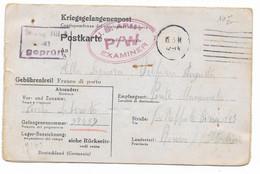 PRIGIONIERI DI GUERRA - DA STALAG VIII A ( GORLITZ ) A ROMA - 5.3.1944 - CONTROLLATO DALLA DOGANA. - Marcofilie