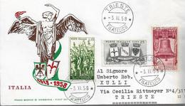 Fdc ReRu: ANNIVERSARIO DELLA VITTORIA (1958);  No Viaggiata; AF - F.D.C.