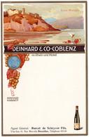 5 Cartes Menu Deinhard &C° Coblenz An Rhein Und Mosel Liebenstein Gutenfels Stolzenfels Bornhofen - Vino