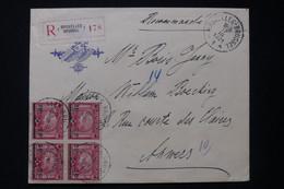 BELGIQUE - Enveloppe De L 'Hôtel Métropole De Bruxelles En Recommandé Pour Anvers En 1921, Affranchissement JO - L 83949 - Briefe U. Dokumente