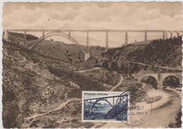 FRANCE 1952 Carte Maximum Viaduc De Garabit Editions A. Delprat N°YT 928 Cachet 1er Jour 5.7 1952 - 1950-59