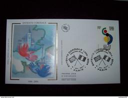 FRANCE 2004_Enveloppe 1er Jour_fdc_soie_l'Entente Cordiale, Oblit PJ Paris 6/4/04. - 2000-2009