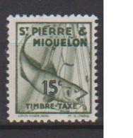 SAINT PIERRE ET MIQUELON         N°  YVERT   TAXE 34    NEUF SANS  CHARNIERES      ( SCH 02/33 ) - Postage Due