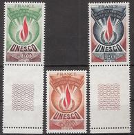 France - Service YT 43 à 45 (1975) UNESCO Déclaration Universelle Des Droits De L'Homme Neuf ** - Nuevos