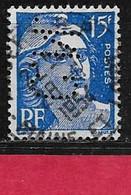 G3 Perfin France Perfore CN 286 Sur Gandon N° 886 - Perfins