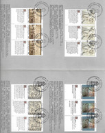 ONU Droits De L' Homme NY N°578 à 583 G N° 196 à 201 V N°112 à 117 Oblitérés 1er Jour 16/11/1990  Le Moins Cher Du Site - Gemeinschaftsausgaben New York/Genf/Wien