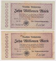 DEUTSCHLAND, Deutsche Reichsbahn Berlin, 9 X 10 Millionen Mark - Other