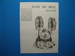 """(1955) Les Amoureux De PEYNET  """" Lune De Miel Aux Îles """" - Unclassified"""