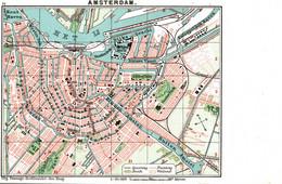 Oude Briefkaart AMSTERDAM, Stad Kaart - Amsterdam