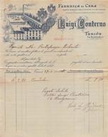 """02235 """"TORINO - LUIGI CONTERNO - FABBRICA DI CERA"""" ANIMATA, STABILIMENTO. DOC. COMM.LE 1916 - Unclassified"""