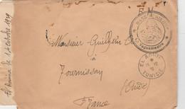 LAC FM EL AOUINA TUNISIE 15/10/1939 CACHET BASE AERIENNE BATAILLON AIR 204 POUR TOURNISSAN AUDE - Covers & Documents