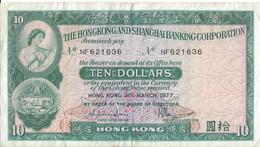 HONG KONG - 10 Dollars 1977 - Hong Kong
