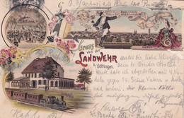 Sandwehr Gottingen Train Railway German Artist 1905 Postcard - Zonder Classificatie