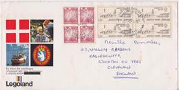 Kangerlussuaq Groenland Enveloppe Philatélique Lego Legoland Timbre Gronland Stamp Mail Cover Stockton-on-Tees Cleveland - Storia Postale