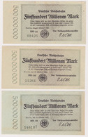 DEUTSCHLAND, Deutsche Reichsbahn Berlin, 3 X 500 Millionen Mark - Other