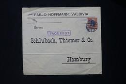 CHILI - Enveloppe Commerciale De Valdivia Pour L 'Allemagne Avec Cachet De Paquebot - L 83981 - Chile