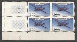 FRANCE ANNEE 1959  PA N° 31 BLOC DE 4 EX COIN DATE NEUFS** NMH COTE 70€ REMISE -88% - 1927-1959 Postfris