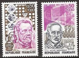 France - YT 1768 Et 1769 (1973) Personnages Célèbres. Pasteur Et Tony Garnier (La Cité Industrielle) Neuf ** - Nuevos