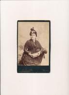 Photo Cabinet Tante Antonia épouse De GROSJEAN ( Fotographi Foto  RENOLDI & GUSTALLA 7 Corso Genova à MILANO Milan ) - Anciennes (Av. 1900)