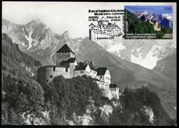 ANDORRA / ANDORRE (2020) - Carte Maximum Card 25 Anys Relacions Liechtenstein, Castell Vaduz, Castle, Chateau, Castillo - Andere